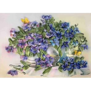 Первоцветы Набор для вышивки лентами Каролинка КЛ(Н)-3019