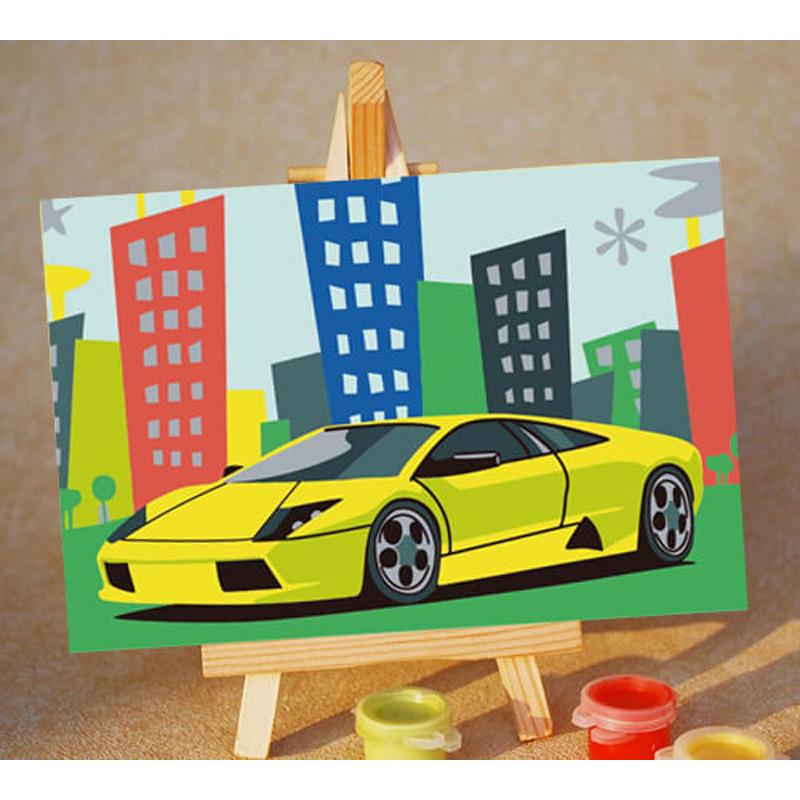 PA179 Гоночная машина Раскраска картина по номерам Цветной ...