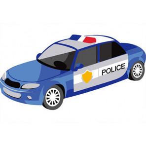 На мольберте Полицейская машина Раскраска картина по номерам PA176