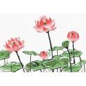 Розовые цветы Раскраска картина по номерам