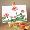 На мольберте Розовые цветы Раскраска картина по номерам PA067