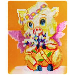 Милая хрюшка Алмазная частичная вышивка (мозаика) Color Kit M019
