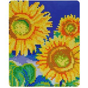 Подсолнухи лмазная частичная вышивка (мозаика) Color Kit M020