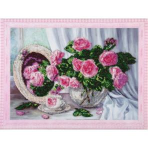 Розовые розы Набор для вышивания бисером на подрамнике Color Kit VS012