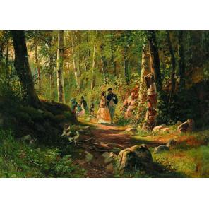 Прогулка в лесу. И.И.Шишкин Пазлы Стелла TG100076