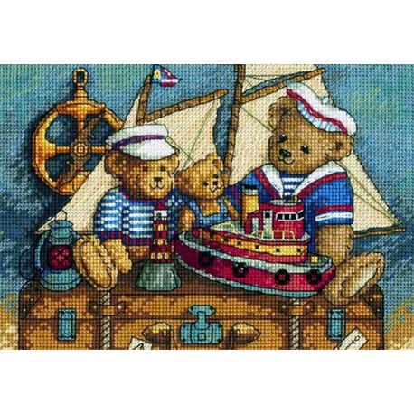Мишки, на палубу! 06994 Набор для вышивания Dimensions ( Дименшенс )