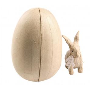 Кролик в яйце Фигурка из папье-маше объемная Decopatch