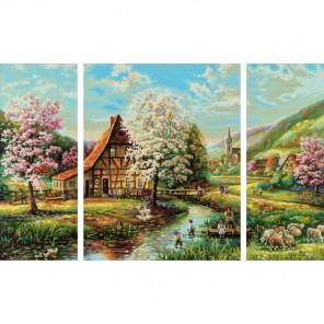 Страна Идиллия Триптих Раскраска картина по номерам акриловыми красками Schipper (Германия)