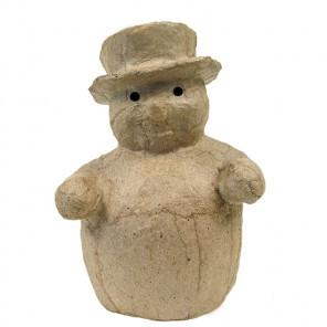 Снеговик в шляпе Фигурка мини из папье-маше объемная Decopatch