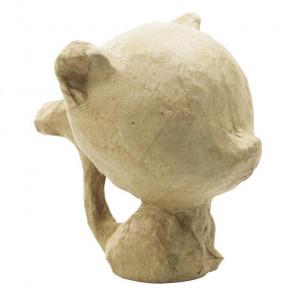 Котенок сидящий Фигурка мини из папье-маше объемная Decopatch APXS05