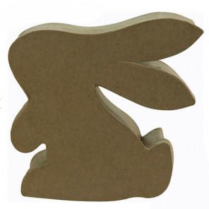 Кролик шкатулка Заготовка из папье-маше объемная Decopatch BT052