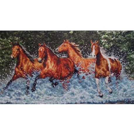 Бегущие лошади 35214 Набор для вышивания Dimensions ( Дименшенс )