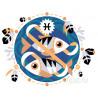 Рыбы Раскраска по номерам на холсте Живопись по номерам KTMK-55287