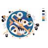 раскладка Рыбы Раскраска по номерам на холсте Живопись по номерам