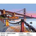 Количество цветов и сложность Мост Голден Гейт. Сан-Франциско Раскраска по номерам на холсте Живопись по номерам ZGENA101100244