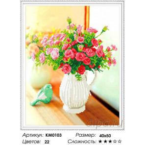Цветы в кувшине Алмазная мозаика вышивка на подрамнике Molly KM0103