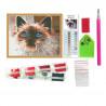 Состав набора Дымчатый кот Алмазная мозаика вышивка на подрамнике Molly KM0122