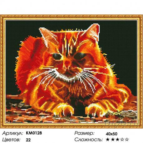 Количество цветов и сложность Огненный Алмазная мозаика вышивка на подрамнике Molly KM0128