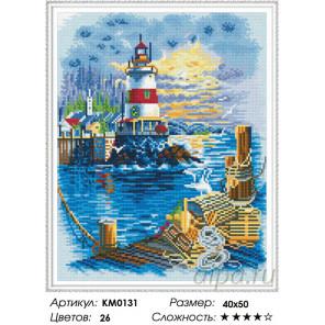 Количество цветов и сложность Маяк Алмазная мозаика вышивка на подрамнике Molly KM0131