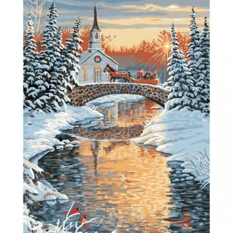 Через реку Раскраска картина по номерам Plaid PLAID PLD ...