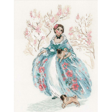 Рококо. Прогулка Набор для вышивания Риолис 1723