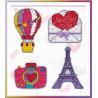 В рамке Путешествие в Париж Набор для вышивания на магнитной основе Овен 1154