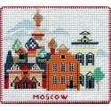 Москва. Столицы мира Набор для вышивания на магнитной основе Овен 1064
