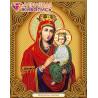 В рамке Икона Богородица Споручница Грешных Алмазная вышивка мозаика Алмазная живопись АЖ-5058