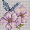 Цветы и бабочки Алмазная мозаика вышивка на подрамнике Painting Diamond BF320