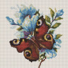 Бабочка на цветах Алмазная мозаика вышивка на подрамнике Painting Diamond BF266