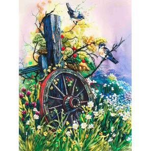 Старое колесо Набор для вышивки лентами Каролинка КЛ(Н)-3021