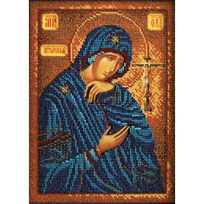 Ахтырская Богородица Набор для вышивки бисером Кроше В-195