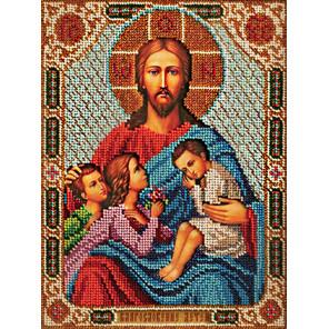 В рамке Благословение детей Набор для вышивки бисером Кроше В-197