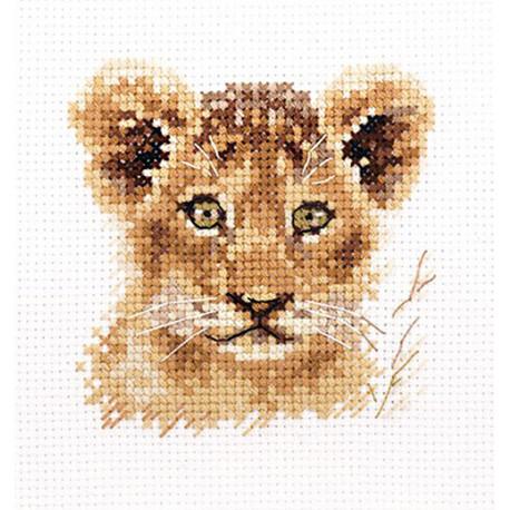 Львенок. Животные в портретах Набор для вышивания Алиса 0-194
