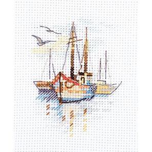 Лодки на рассвете Набор для вышивания Алиса 0-196