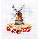 Мельница в маковом поле Набор для вышивания Алиса 0-197