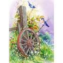 Старое колесо Канва с рисунком для вышивки бисером Каролинка