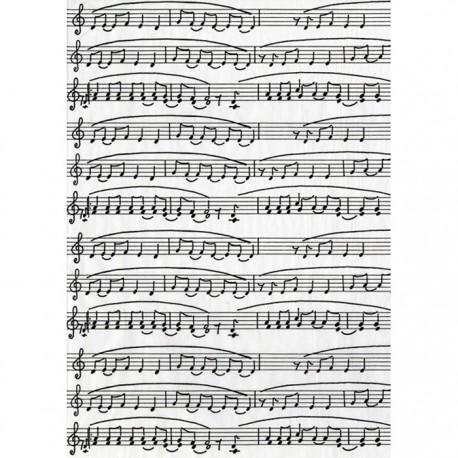 Ноты на белом 468 Бумага для декопатча Decopatch