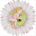 Ангелочек на цветке Набор для вышивания