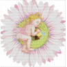 Ангелочек на цветке Набор для вышивания K281