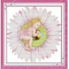 В рамке Ангелочек на цветке Набор для вышивания K281