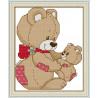В рамке Медвежонок с мамой Набор для вышивания K644