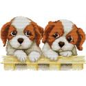 Два щенка Набор для вышивания