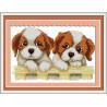 В рамке Два щенка Набор для вышивания K064