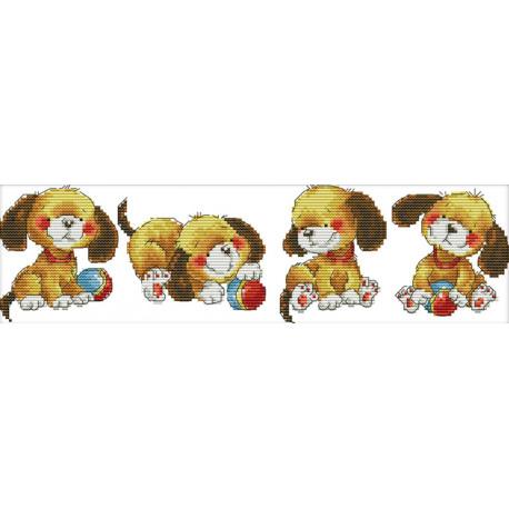 Четыре щенка Набор для вышивания K504
