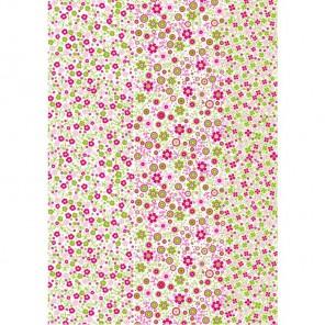 Мелкие зелено-розовые цветочки 571 Бумага для декопатча Decopatch
