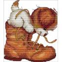 Щенок и ботинок Набор для вышивания