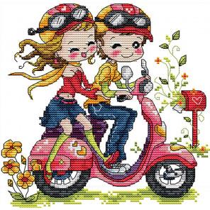 Парочка на мотоцикле Набор для вышивания K455