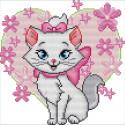 Розовая кошечка Набор для вышивания
