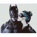 Бэтмен и женщина-кошка Раскраска по номерам на холсте Живопись по номерам